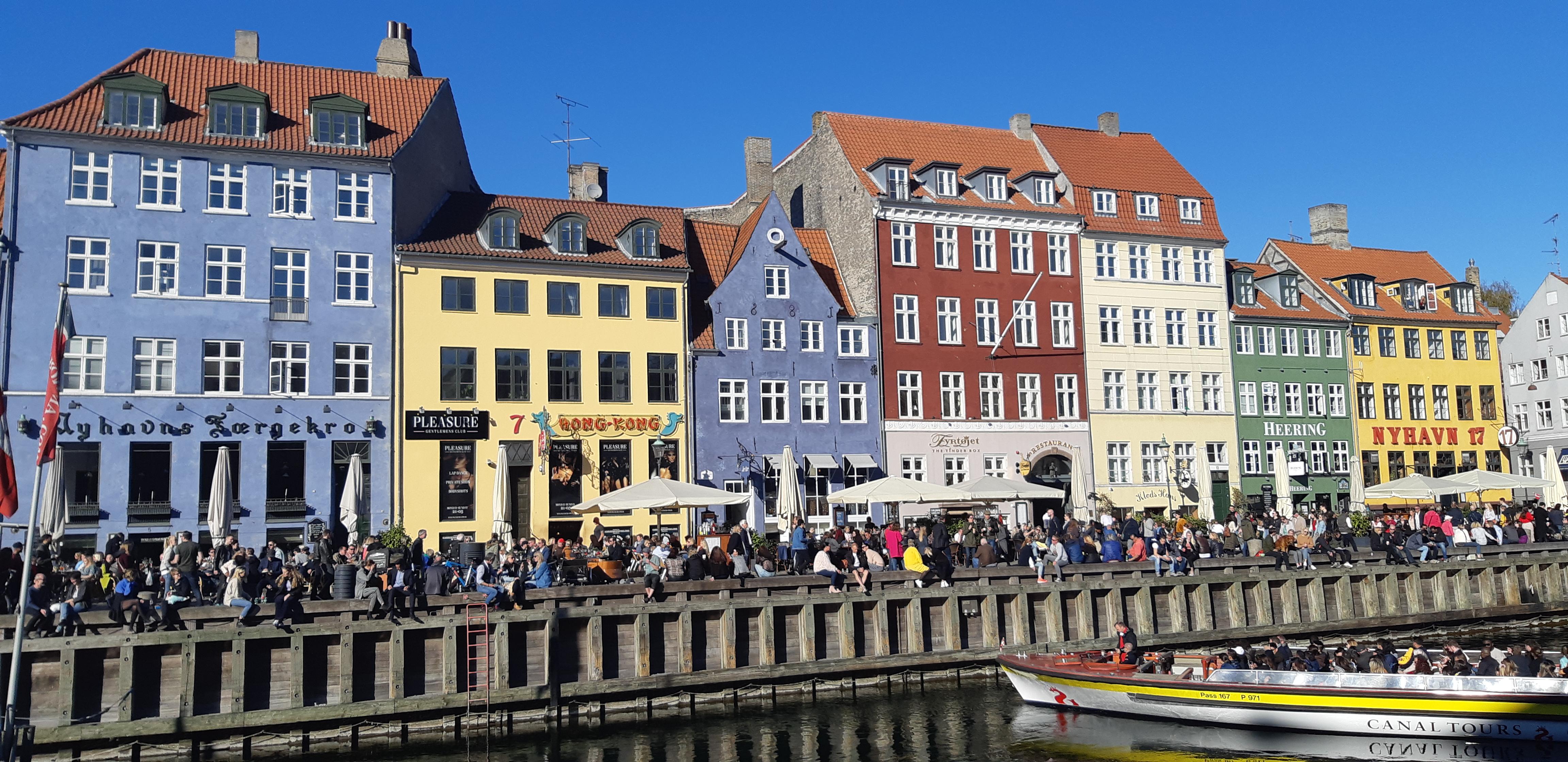 maison colorées Nyhavn Copenhague