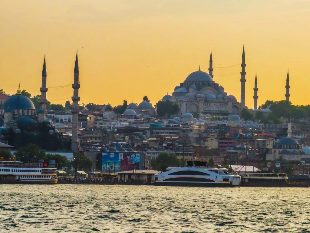 coucher de soleil Istanbul bosphore