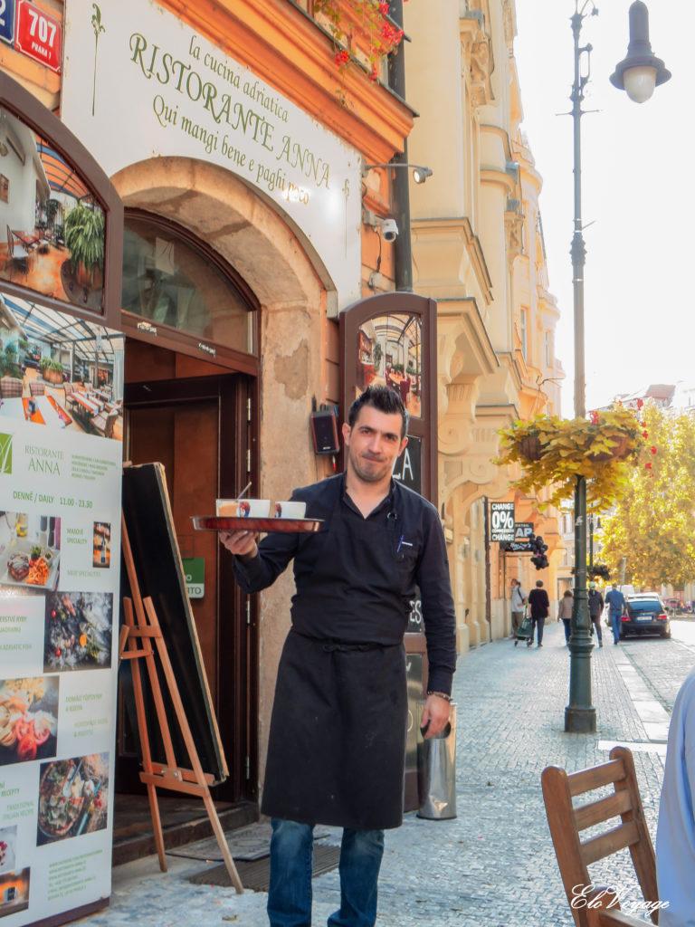 restaurant dans le quartier juif de Prague