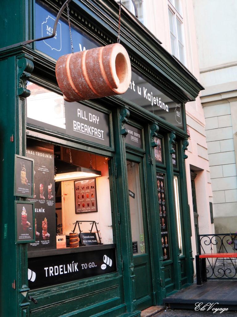 boutique de Trdelnik à Prague