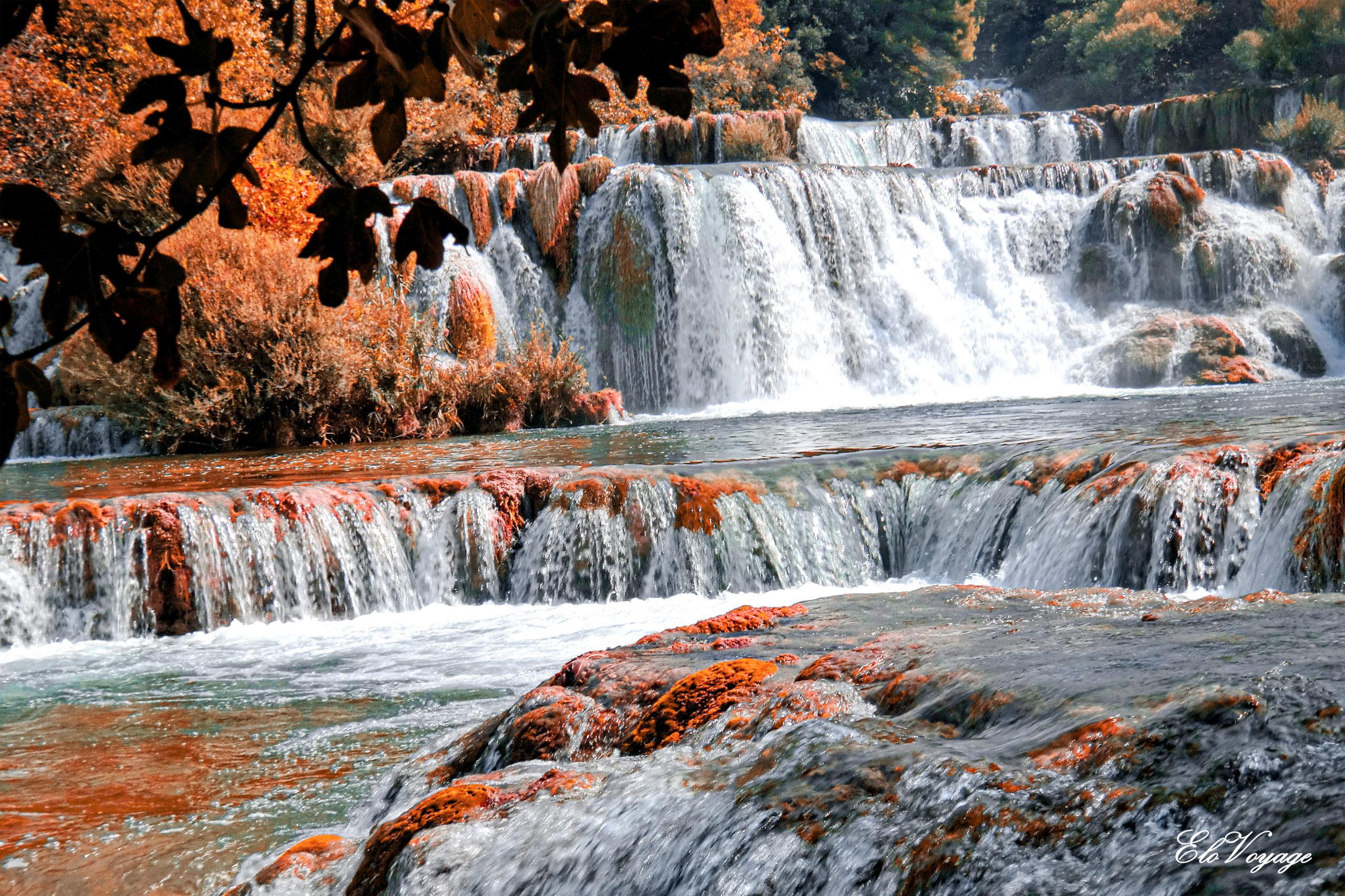 krka croatie chute d'eau