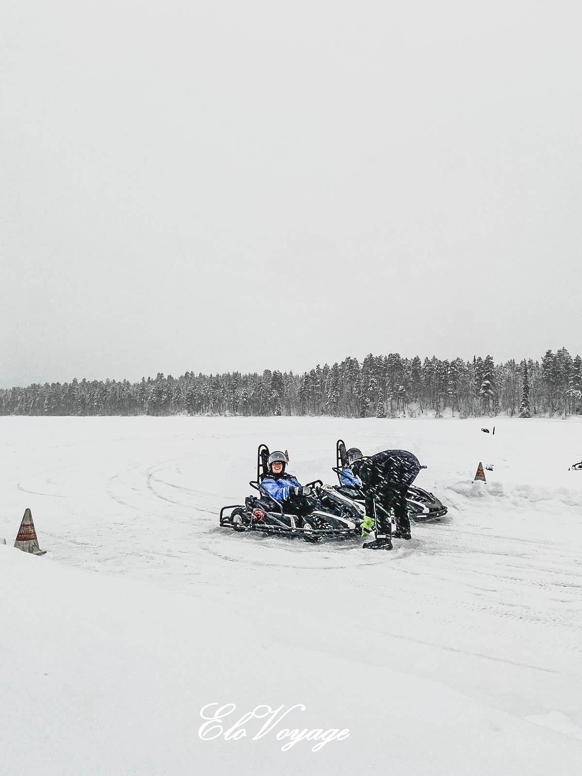 ice karting laponie finlande