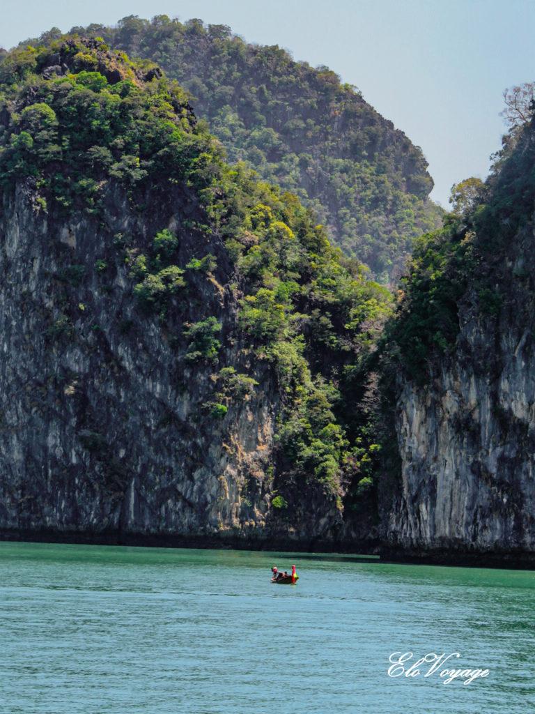 roche calcaire baie ao phang nga thailande