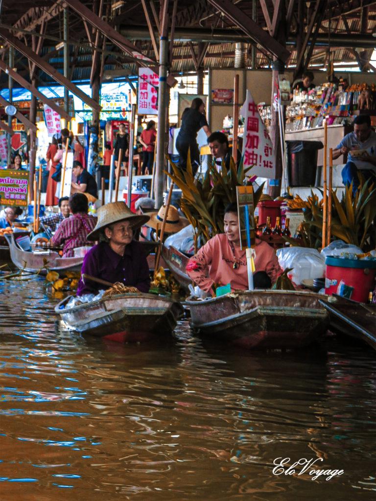 marché flottant bangkok damnoen saduak