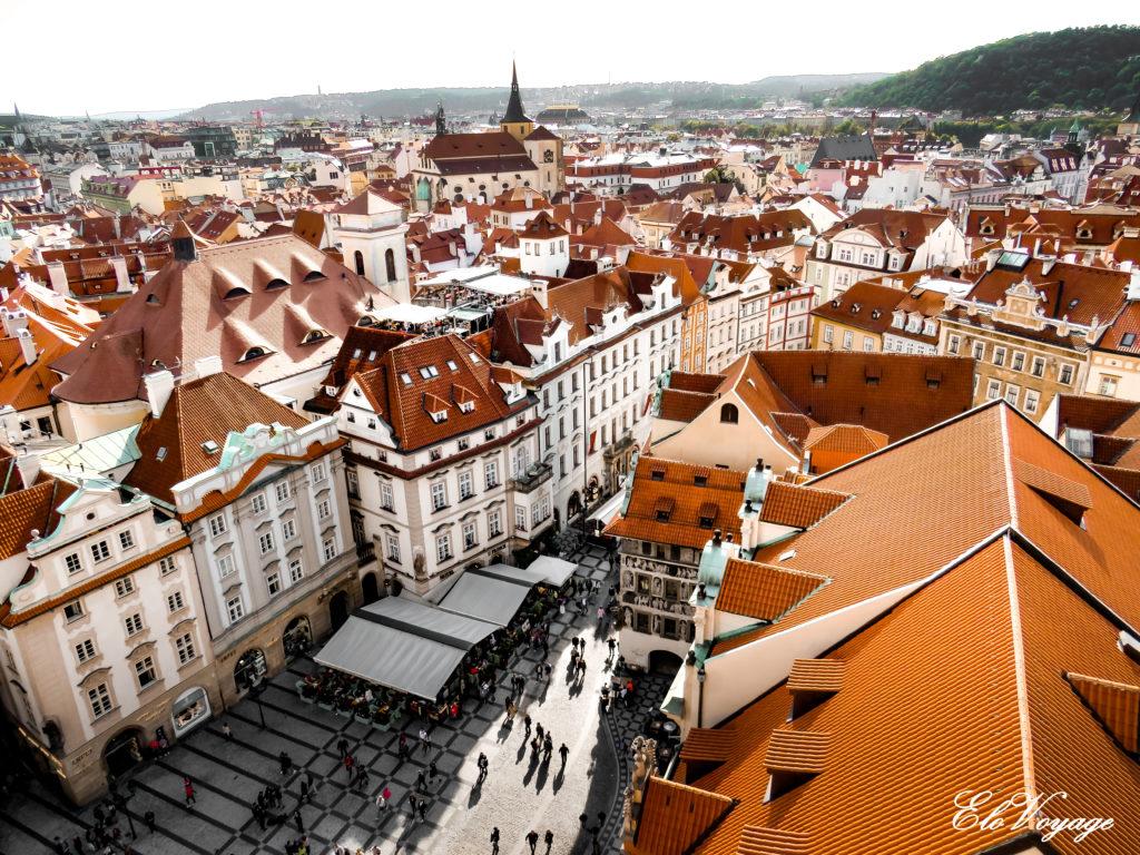 vue sur la vieille ville de Prague