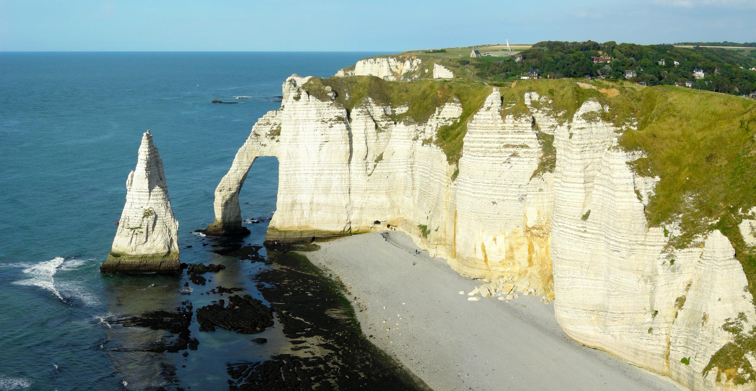 Vue Falaise Étretat Normandie