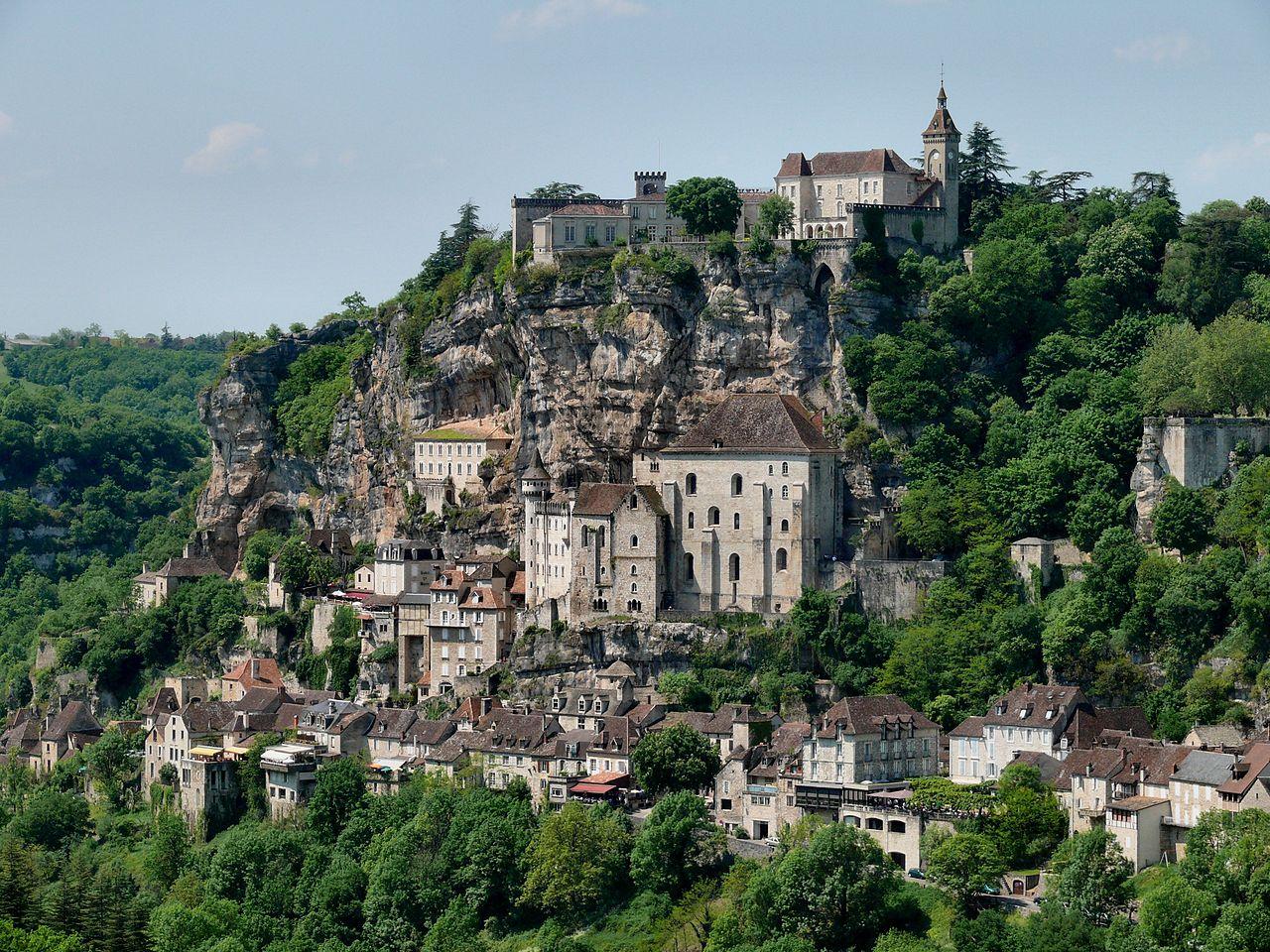 Village Rocamadour drône