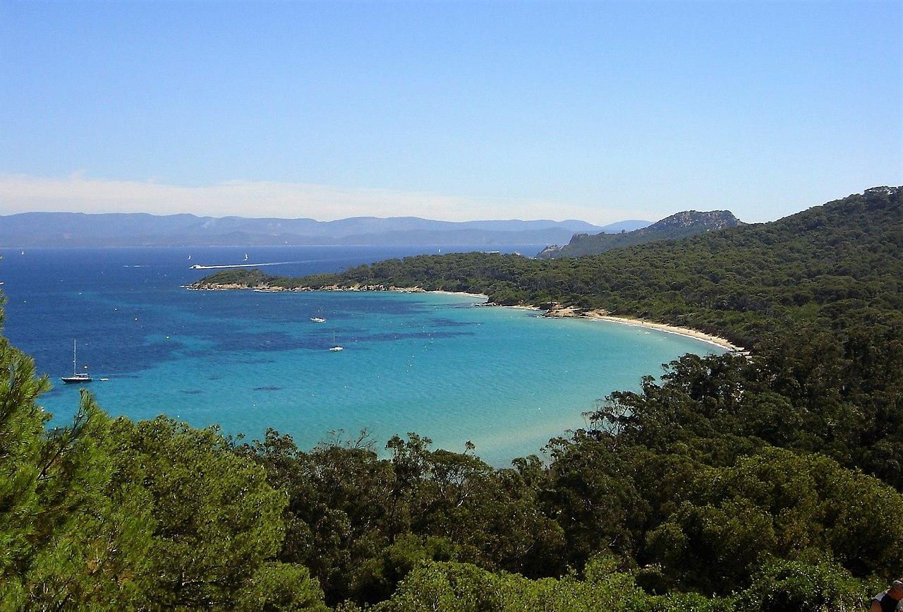 Mer sable plage îles de Porquerolles