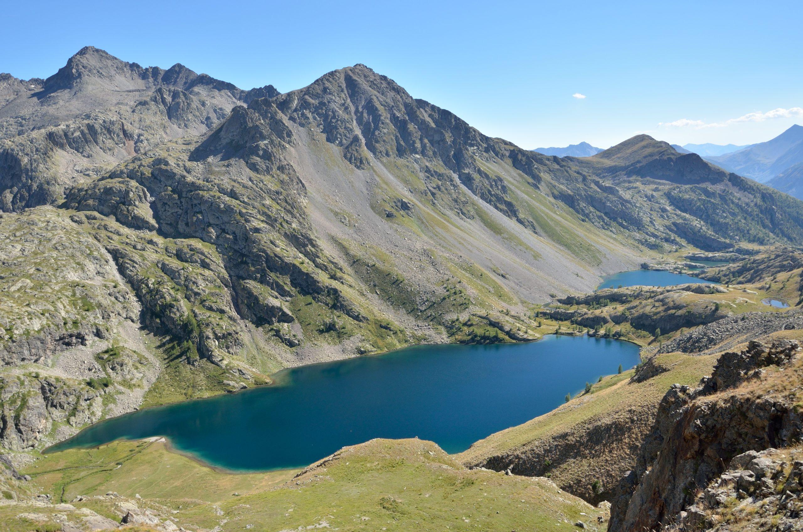 Vue lac parc national du Mercantour